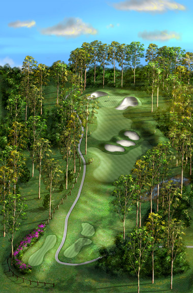 Hole 9 Par 4 Bonville Golf Resort
